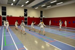 140122 022 - Erstes Training neue Fechthalle